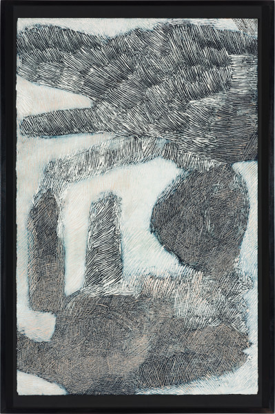 Nyapanyapa Yunupingu Djulpan, 2020; 4011-20; natural earth pigments on paper; 109 x 72.5 cm; enquire