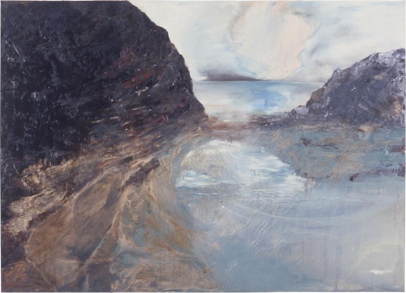 Mandy Martin Mythic Coastal Landscape, 1986; oil on canvas; 175 x 244 cm; enquire