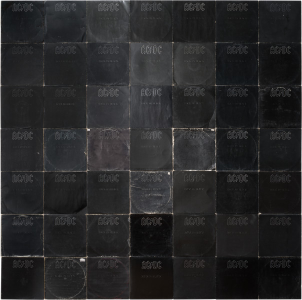 Nell More Sound Hours Than Can Ever Be Repaid - Back in Black, #3, 1980-13; Cardboard record sleeves; 219.5 x 220.4 cm; enquire