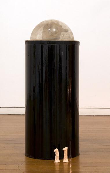 Mikala Dwyer 11, 2009; clay, wood, acrylic, PVC; 61 x 27 x 29 cm; enquire
