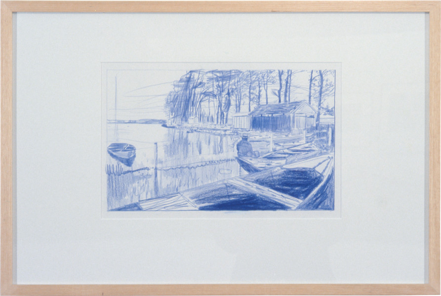 Peter Doig French Landscape Drawing, 1996; crayon on paper; approx. 49 x 73.5 cm; enquire