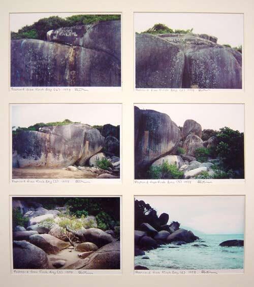 Destiny Deacon Postcard from Finch Bay 4, 2, 1, 5, 3 & 6, 1998; 6 colour laser prints; 21 x 29.7 cm; Edition of 15; enquire