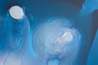 Dale Frank Marcus and Steven (detail), 2021; Interference colour pigment in Epoxyglass, on Perspex; 200 x 150 cm; enquire