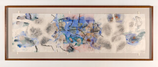 John Wolseley Javan leaf and Tiwi leaf, continental drift, 2001; watercolour on paper; 56 x 199 cm; enquire