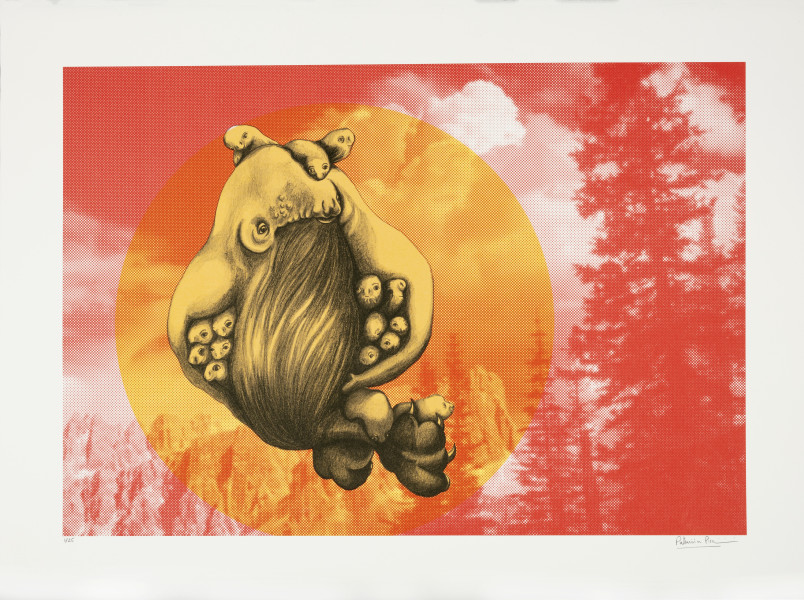 Patricia Piccinini The Skywhale Suite (Pines), 2019; Lithograph on BFK Rives 250gsm; 50 x 60 cm; edition of 25 + 2 AP; enquire