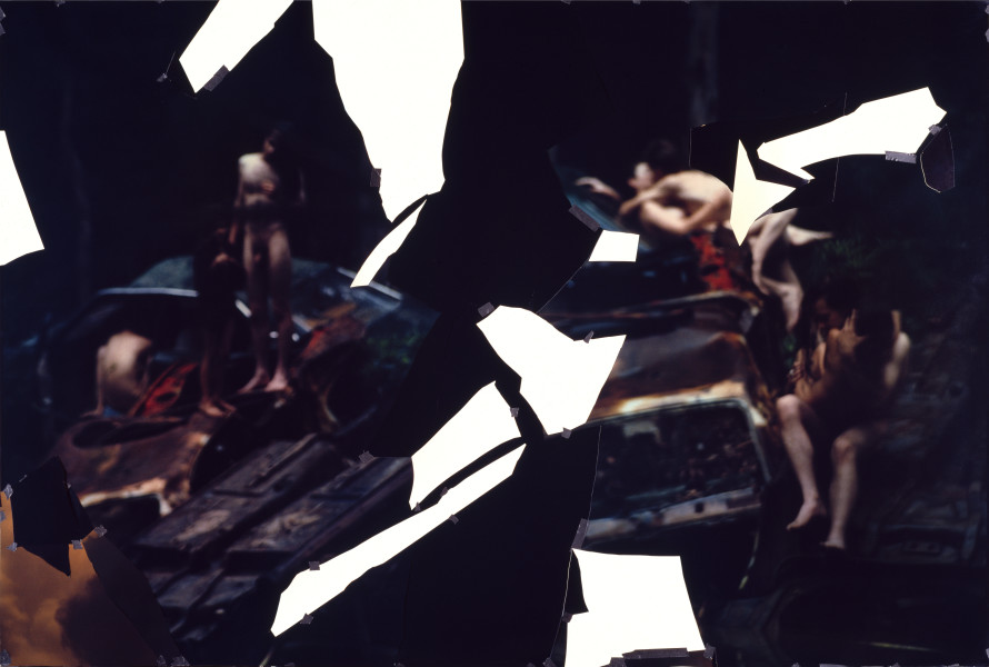 Bill Henson Untitled, 1994; type C photograph, adhesive tape, pins, glassine; 184.8 x 275 cm; enquire