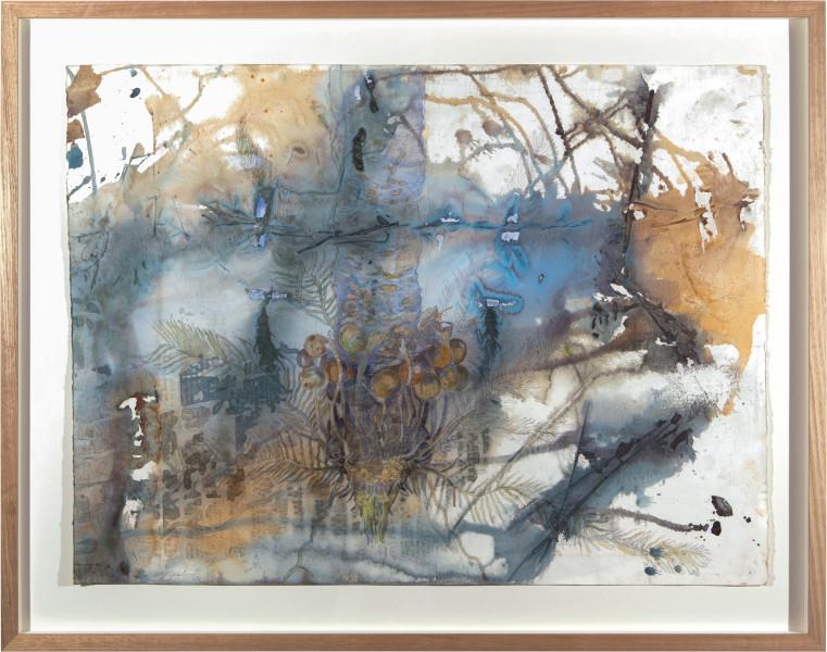 John Wolseley ᶇathu - Cycad, Le Cycas Englouti, 2015; watercolour on paper; 93 x 118 cm; Enquire