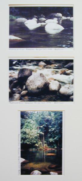 Destiny Deacon Postcard from Mossman Gorge (1) (2) (3), 1998; 3 colour laser prints; 29.7 x 42.2 cm; Edition of 15; enquire