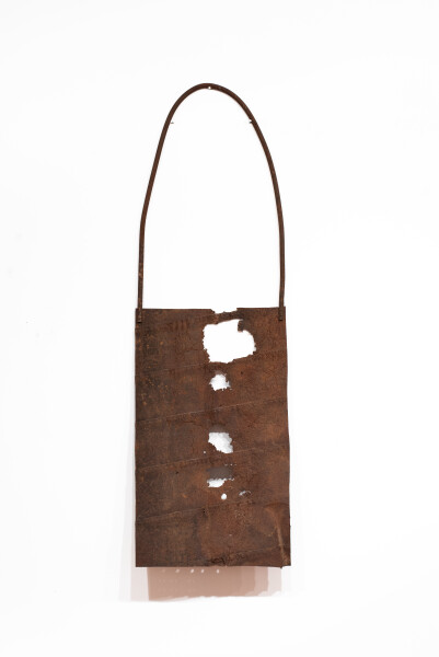Lorraine Connelly-Northey Narrbong, 2019; CONNL - 0031; rusted steel; 260 x 80 x 16 cm; enquire