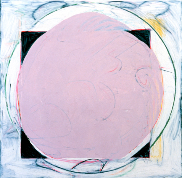 Denise Green Alassio, 1985; oil, paint, stick on canvas; 165 x 165 cm; enquire