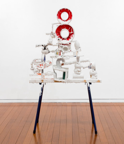 Teppei Kaneuji White Discharge (Built-up Objects #16), 2011; found objects, resin, glue; 85 x 56 x 48 cm; enquire