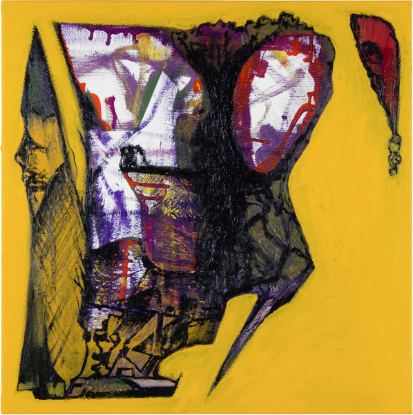 Gareth Sansom Dunce (1954) , 2012; oil and enamel on linen; 60 x 60 cm; enquire