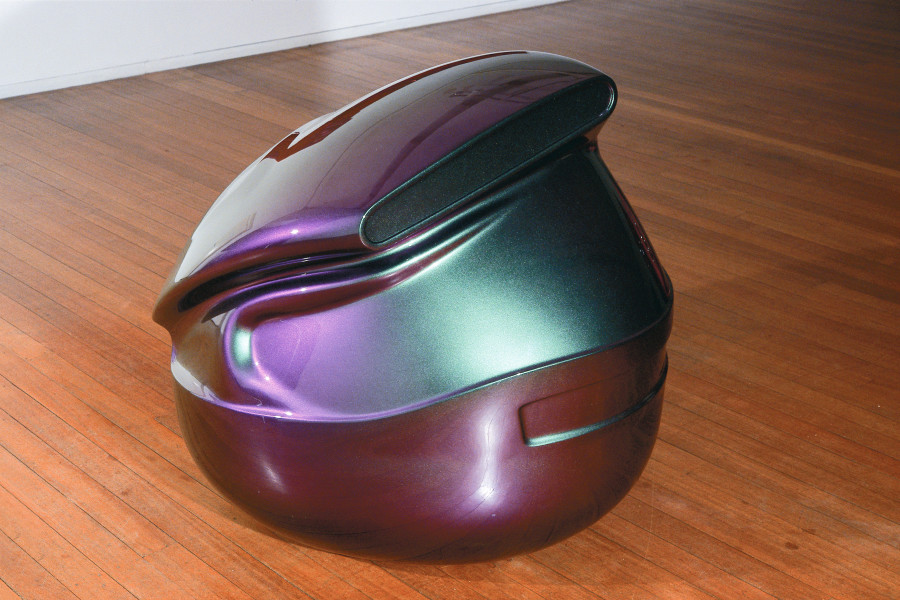 Patricia Piccinini Heart Breaker, 2002; fiberglass and automotive paint; 95 x 70 x 70 cm; enquire