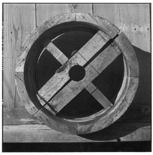 Bill Culbert Wood wheel, wormholes, 2002; Edition of 25; enquire