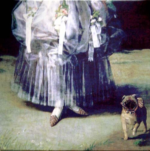 Anne Zahalka Untitled (dog), 2001; colour print on canvas; 36 x 36 cm; Edition of 10; enquire