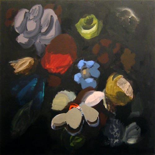 Tony Clark Floral Design with Chilean Bell Flower, 2002; Acrylic on canvas; 76 x 76 cm; enquire