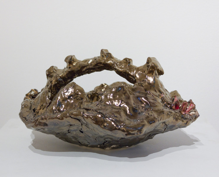 Mikala Dwyer The things in things, 2012; found objects, ceramic, glaze, epoxy filler; 15.5 x 31 x 26.5 cm; enquire