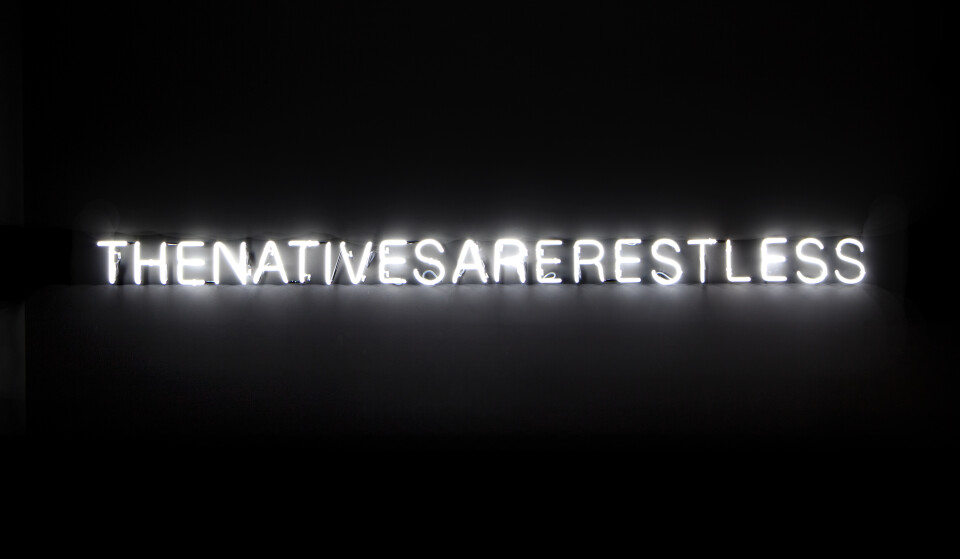 Newell Harry The Natives are Restless (Arses), 2012; neon; 15 x 330 cm; Edition of 5; enquire