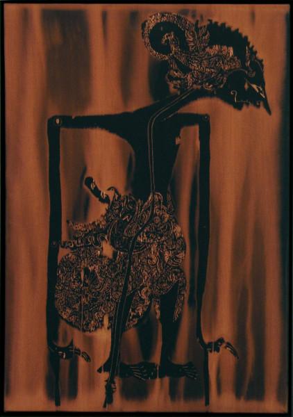 David Noonan Wayang, 2005; fabric painting; 68.5 x 42.5 x 6.5 cm; enquire