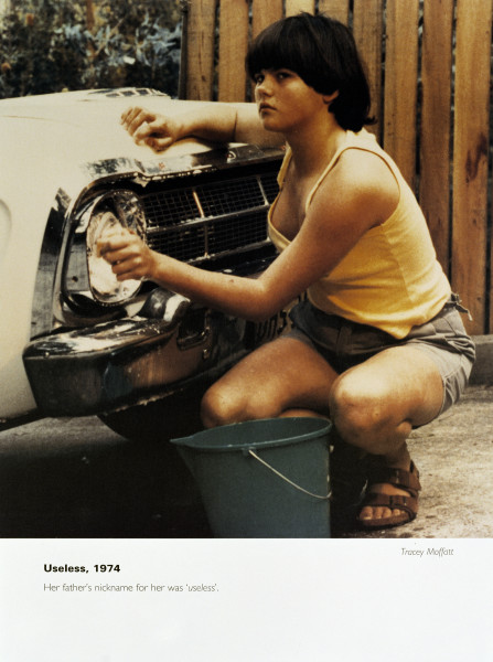 Tracey Moffatt Useless, 1974, 1994; from the series Scarred For Life; offset lithograph; 80 x 60 cm; Edition of 50 + AP 9; enquire