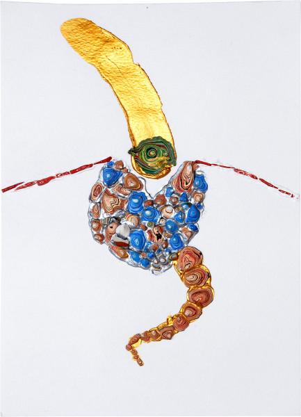 Rohan Wealleans Shot, 2006; paint on paper; 42 x 33.5 x 4 cm; framed dimensions; enquire
