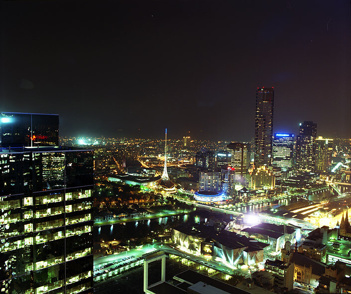 Anne Zahalka Room 4927 view to Federation Square, Hotel Suite, 2008; Type C print; 75 x 92.5 cm; enquire