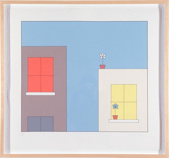 Dominic Dennis Untitled, 1992; eight colour screen print; paper size 76 x 82.5cm; image size 75 x 47 cm; enquire