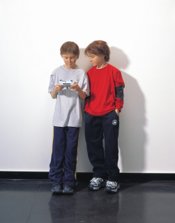 Patricia Piccinini Game Boys Advanced, 2002; silicone, polyurethane, clothing, human hair; variable; Edition of 3; enquire