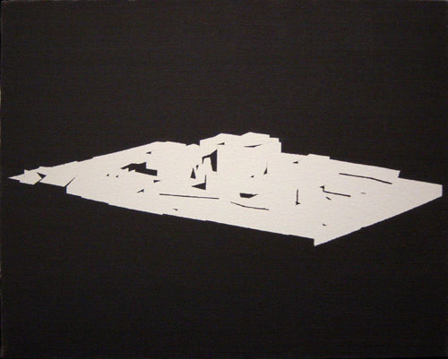 David Noonan Untitled Model, 1994; (study for Billboard Painting); oil on canvas; 40.5 x 51 cm; enquire