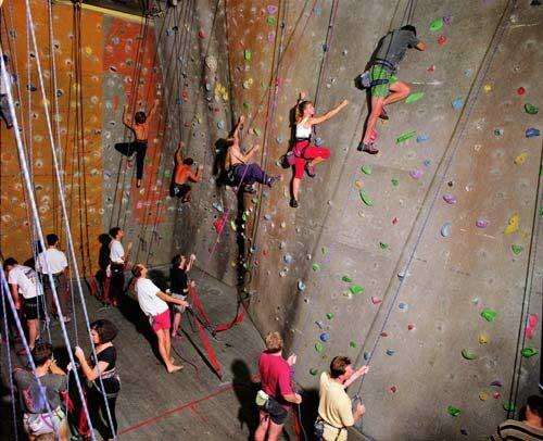 Anne Zahalka Rock Climbing Gym, 1998; type C photograph; 115 x 145 cm; Edition of 12; enquire