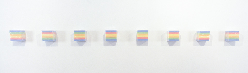 Amanda Ahmed Untitled, 1995; sponges, plastic packaging; multiple parts, each 15.0 x 15.5 x 11.5 cm (irreg,); enquire