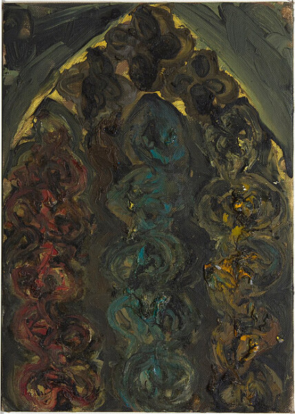 Tony Clark Design for a Stained Glass Window, 1983; oil on canvas board; 35.5 x 25.5 cm; enquire