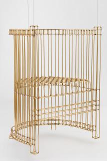 Marley Dawson Chair (for levitation), 2020; brass, silver solder; 84 x 65 x 52 cm; enquire