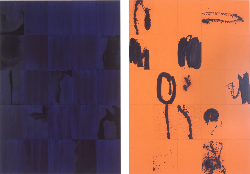 Lindy Lee Nell and Every Little Thing, 1995; Photocopy and acrylic on Stonehenge paper; 205 x 143 cm; 2 parts, 25 panels each; enquire