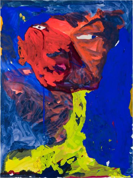 Tom Polo so into you, so into view (precarious neck), 2021; acrylic and Flashe on canvas; 182 x 132 cm; enquire