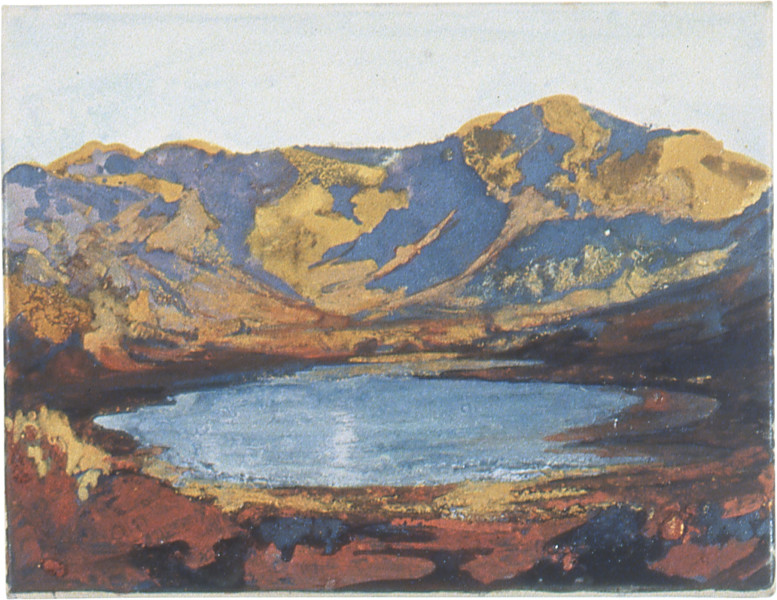 Mandy Martin Lago, 2002; ochre, pigment, acrylic on arches paper; 30 x 40 cm; enquire