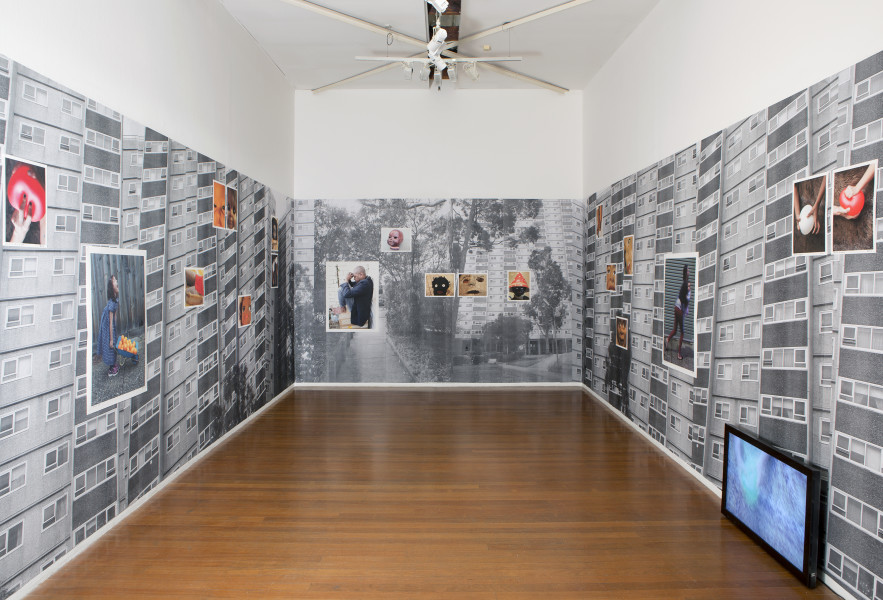 Virginia Fraser and Destiny Deacon Snap out of it (installation), 2014; Installation, wallpaper, 20 photos, video; Installation dimensions variable; Edition of 5 + 2 APs; enquire