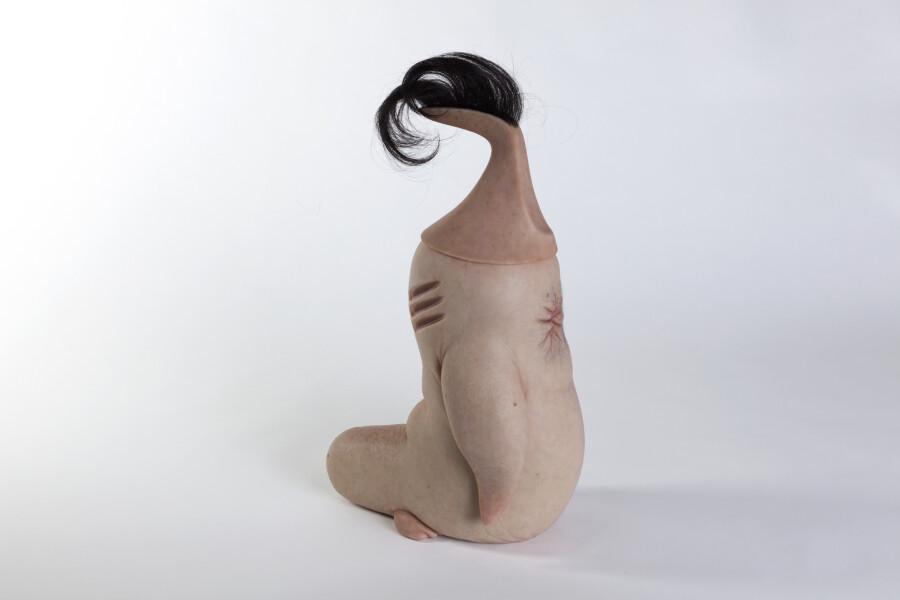 Patricia Piccinini Butthole Penguin II, 2018; Silicone, hair; 47 x 21.7 x 29.6 cm; Edition of 6 + AP 2; enquire