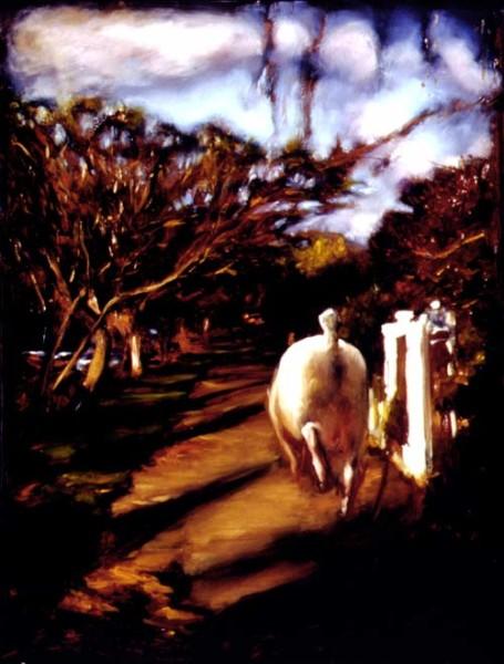 Louise Hearman Untitled #552, 1997; Oil on masonite; 91 x 69 cm; enquire