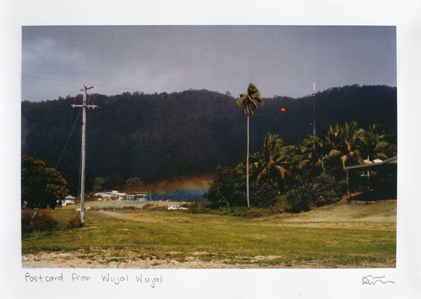 Destiny Deacon Postcard from Wujal Wujal, 1998; colour laser print; 29.7 x 42.2 cm; Edition of 15; enquire