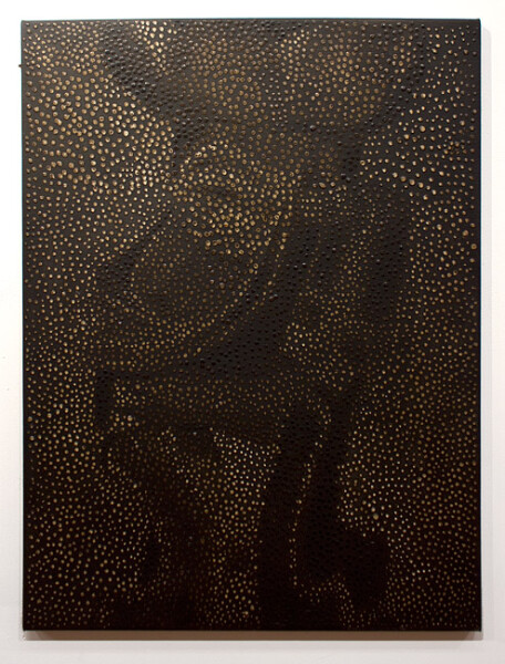 Daniel Boyd Untitled, 2012; oil and archival glue on canvas; 102 x 76.5 cm; enquire
