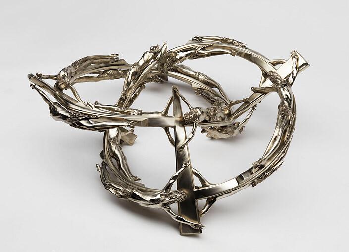 Wim Delvoye Double Helix DS 180 45, 2008; Berlin silver; 38 x 108 x 108 cm; enquire