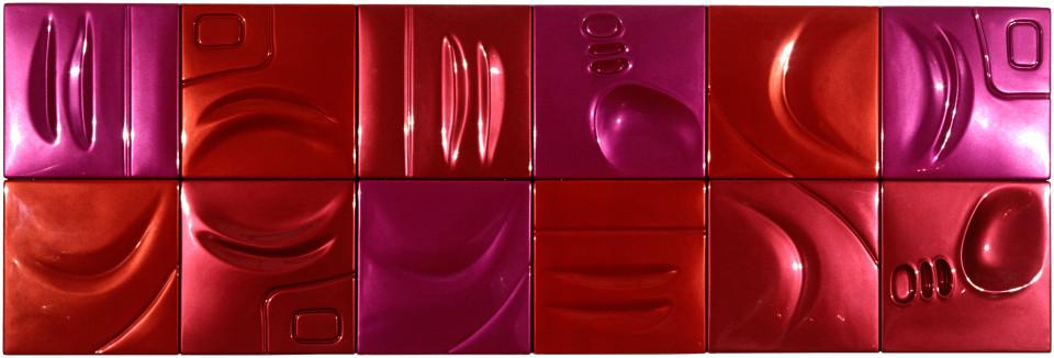 Patricia Piccinini Babe, 2002; ABS plastic and automotive paint; 100 x 300 x 5 cm; 12 panels; enquire