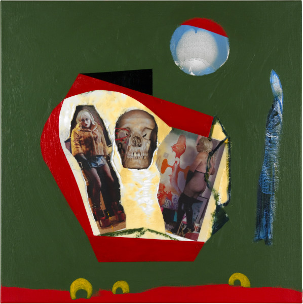 Gareth Sansom Space Odyssey (Kubrick), 2012; oil and enamel on linen, collage of photographs; 60 x 60 cm; enquire