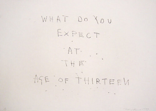 Tracey Emin 13, 1999; black ink on paper; 30 x 42 cm; enquire