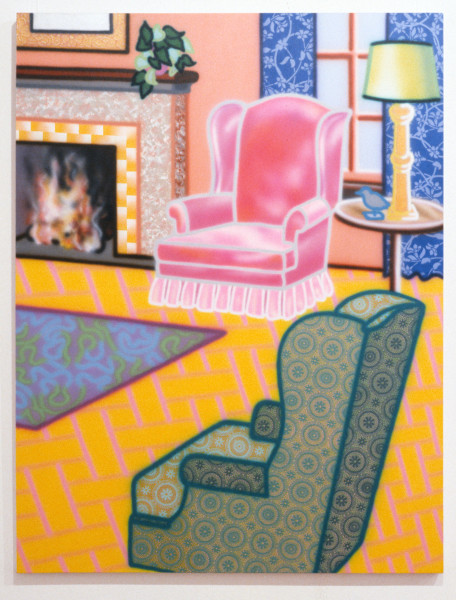 Howard Arkley Nice & Spacey, 1993; acrylic on canvas; 173 x 135 cm; enquire