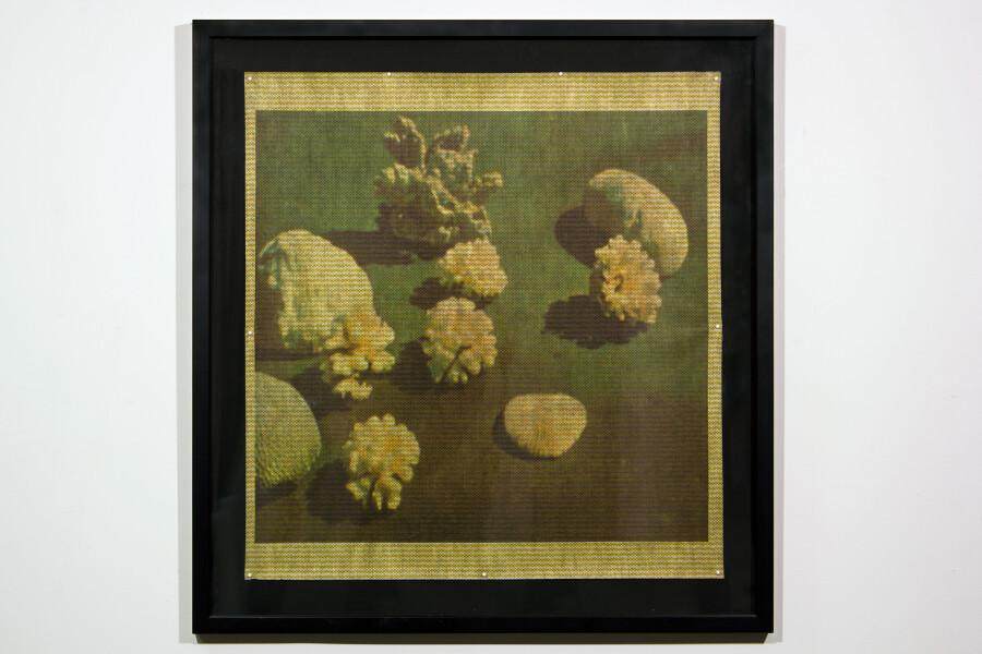 Hany Armanious Moonshine, 2001; inkjet print on chux cloth; 65 x 61 cm; 78.2 x 74.2 cm (frame size); enquire