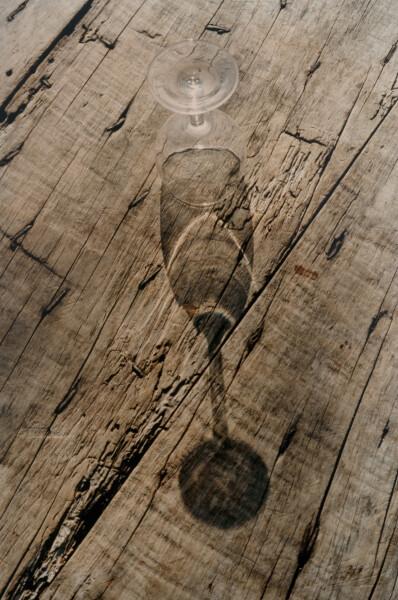 Bill Culbert verre a vin/wine glass, 1992; colour photograph; 31 x 27 cm; Edition of 20; enquire