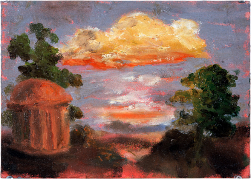 Tony Clark Sacro Idyllic Landscape, 1983; oil on canvasboard; 25 x 35 cm; enquire
