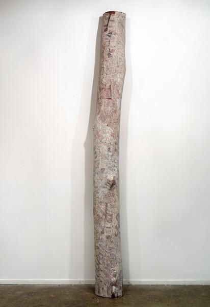 Nyapanyapa Yunupingu Bathala, 2012; 4274C; natural earth pigments on bark; 257 x 30 x 30 cm; enquire